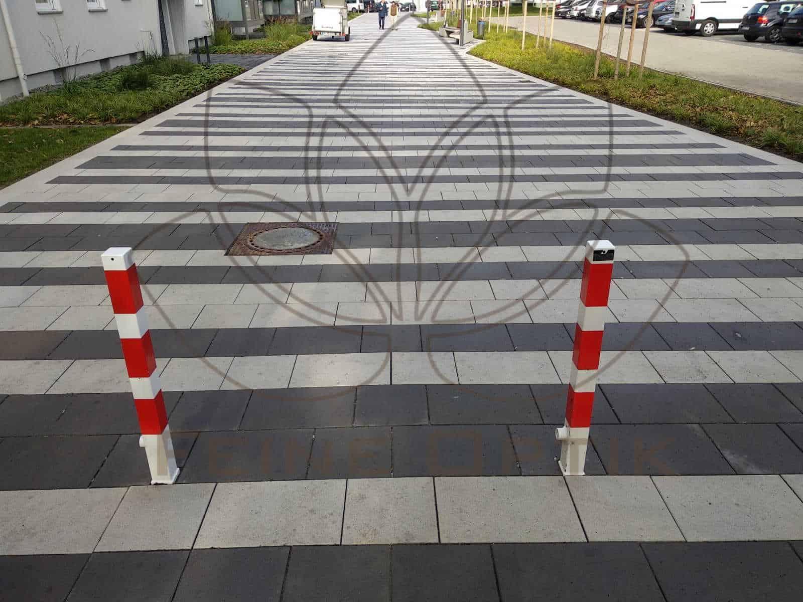 Pflastersteine wurden in Dortmund gereinigt Laubflecken